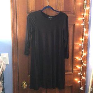 Black Long sleeve T shirt dress